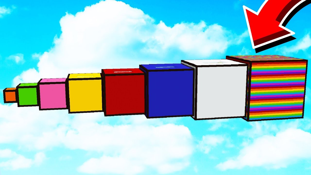 WHAT'S INSIDE THESE GIANT RAINBOW CUBES? - YouTube