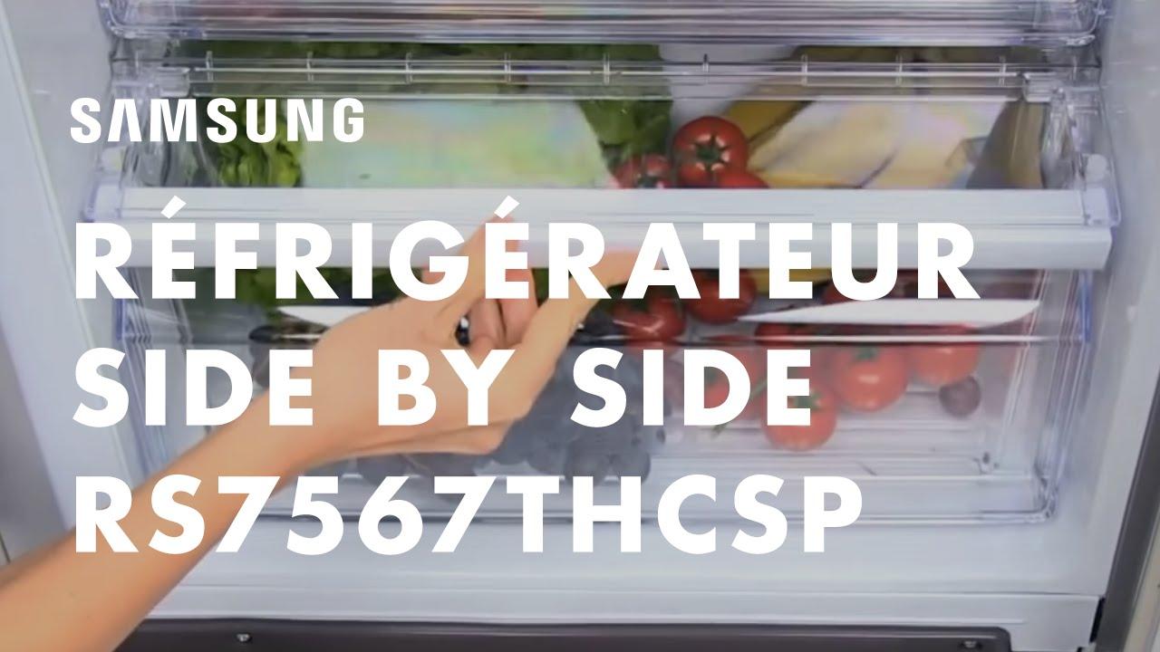 Samsung Réfrigérateur Américain Side by Side H-Series RS7567THCSP ...
