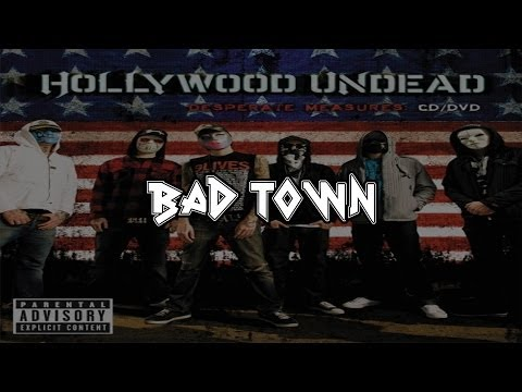 Hollywood Undead - Bad Town (Operation Ivy Cover) [Lyrics] [Full HD]