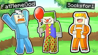 Download minecraft but I troll FatMemeGod with SCARY CLOWN mod