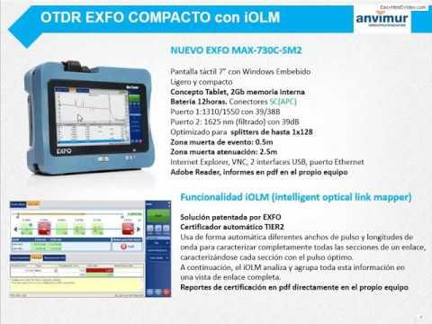 Webminar OTDR EXFO MAX-730C-SM2 Mediciones en redes FTTh