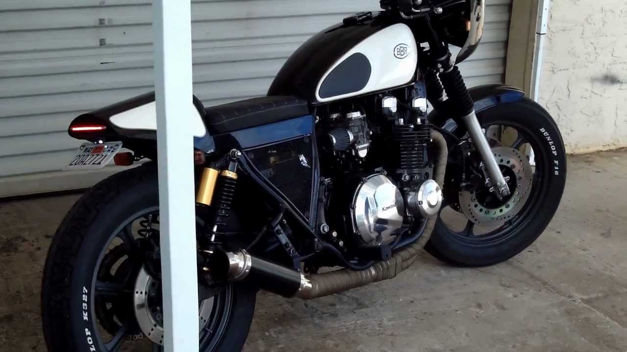 medium resolution of bare bone rides custom 2000 kawasaki kz1000p cafe racer build fired up youtube