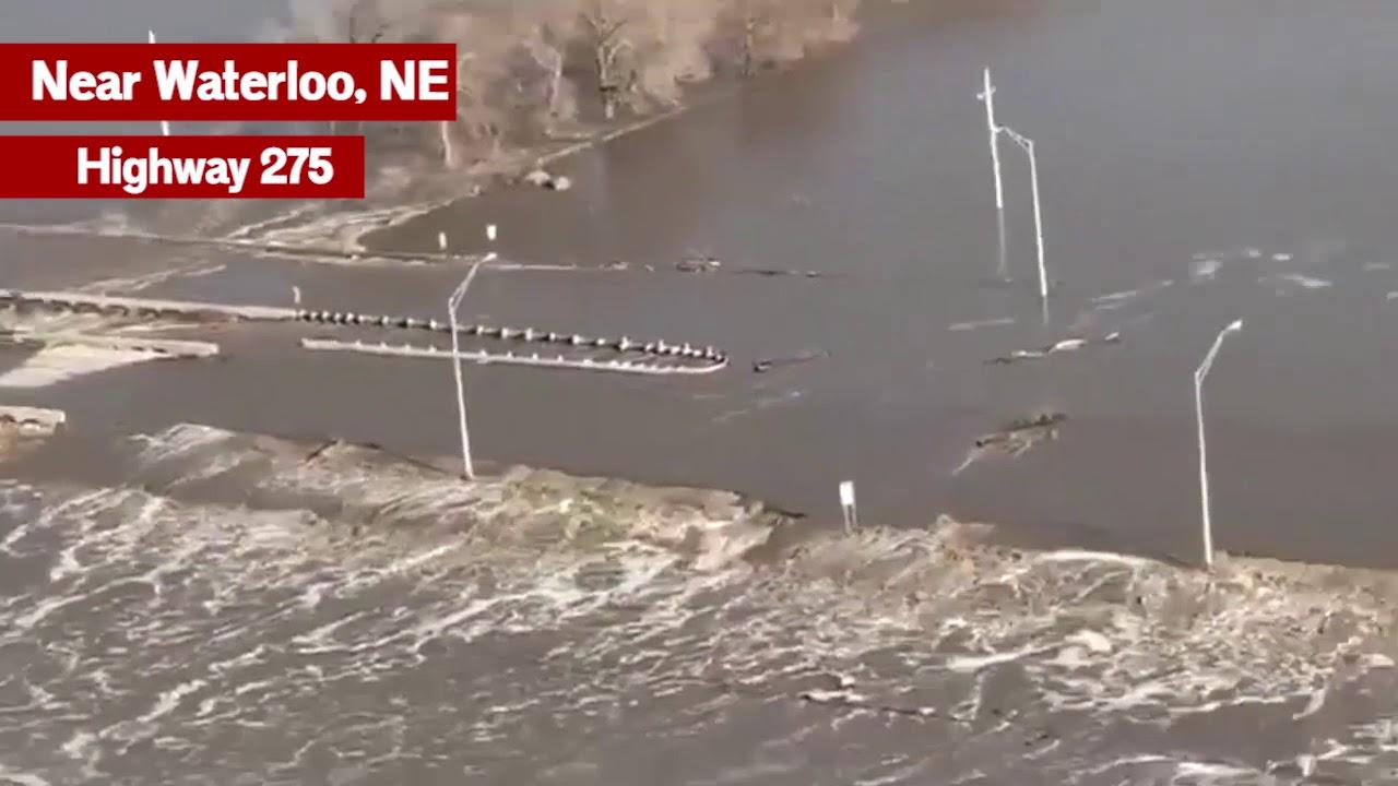 Nebraska Flood - Highway 275 Near Waterloo