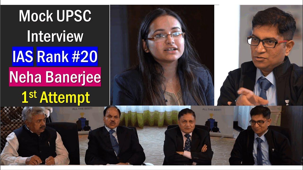 Mock UPSC Interview: IAS Neha Banerjee (Rank 20) Mrunal asks Engineering & Situation Reaction Test