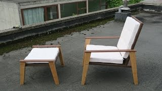 Making of the nitsn #1 prototype 4 chair & ottoman