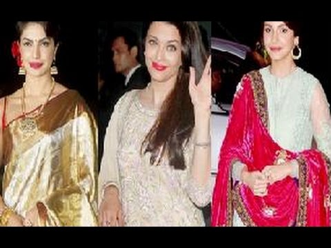 Aishwarya Rai Priyanka Chopra Anushka Sharma Attend Wedding