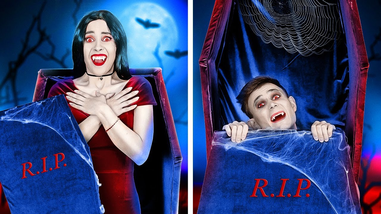 PETIT VAMPIRE ET GRAND VAMPIRE    Scènes Drôles et Mignonnes Avec Vampires par 123 GO!