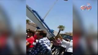أخبار اليوم   حادث انقلاب سيارة  فى حدائق القبة