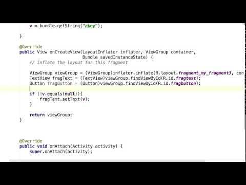 Communicating Fragments - Bundle - Interface
