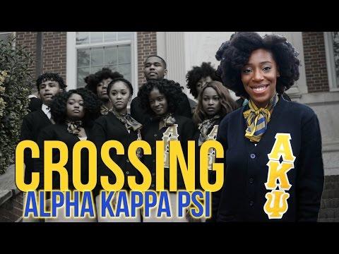 Crossing Alpha Kappa Psi @ Howard University (VLOG)