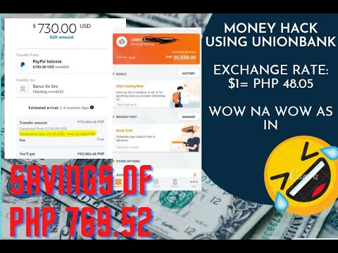 How To Get A Higher Exchange Rate Using Of $1= Php48.05 Vs. Paypal Rate Of Php46.52???? BIG SAVINGS!