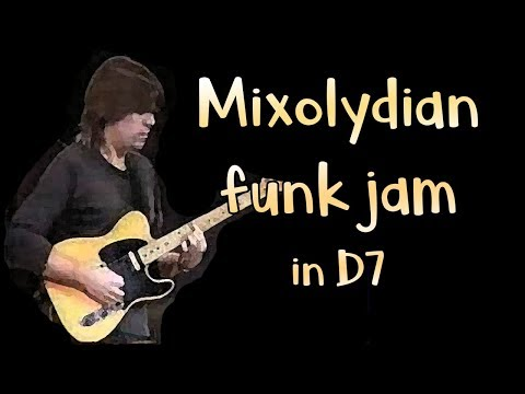 Mixolydian Jazz Funk Jam Track in D7