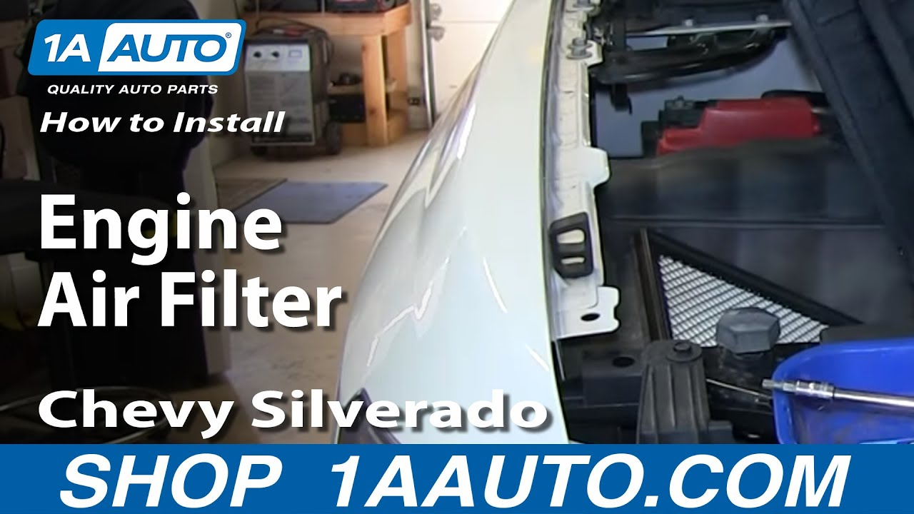 How To Install Replace Engine Air Filter 2007-13 Chevy ...