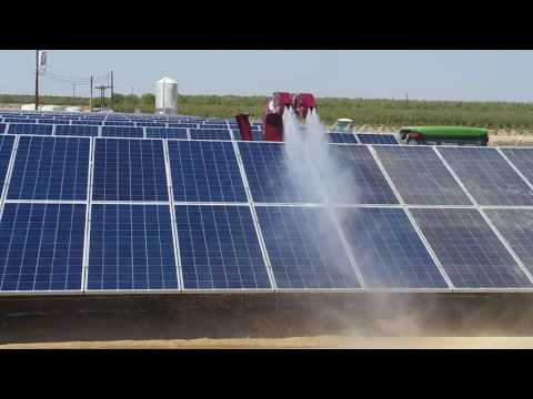 LectroBlast Solar Blaster Cleaning Solar Panels