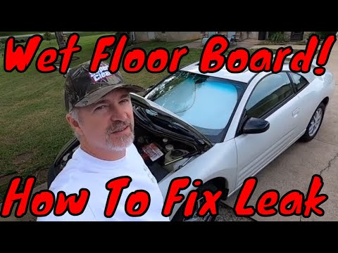 Wet floor board in 3G Eclipse, how to fix Mitsubishi AC drain leaking into cabin issue.
