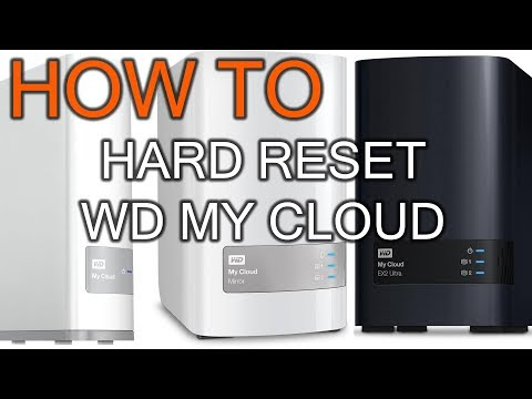 How to Hard Reset WD my Cloud - YouTube