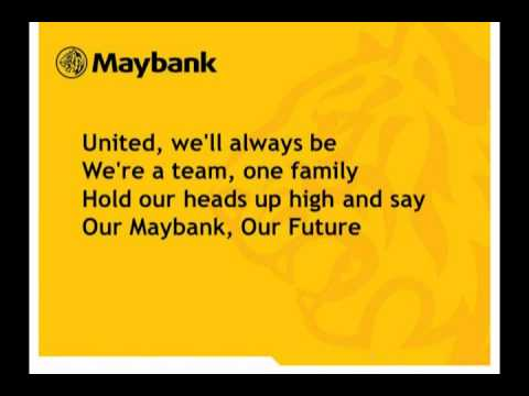 English Maybank Corporate Song With Lyric