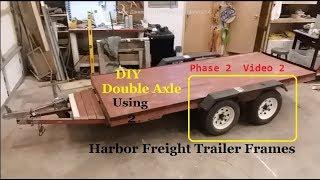 Harbor Freight DIY 2 axle trailer Phase II vid 2 on 4k Suspension kit