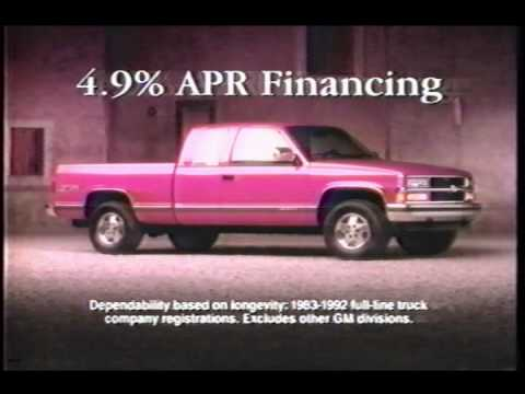 1978 Chevy Truck >> 1994 Chevy CK Pickup Ad - December 28, 1993 - YouTube