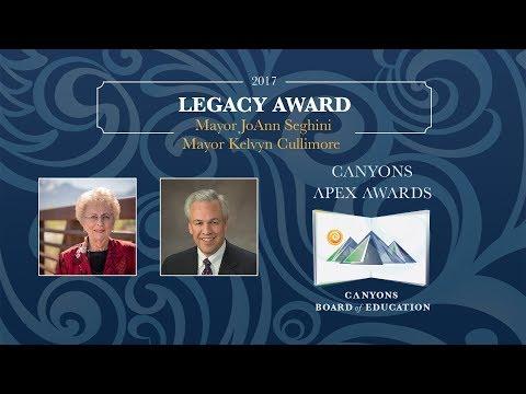 Kelvyn Cullimore and JoAnn Seghini - Legacy Award 2017