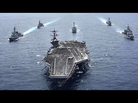 Message To Kim: Aircraft Carrier USS Carl Vinson & Japanese Destroyers Sail In A Joint Show Of Force