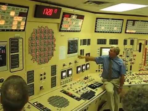 Nuclear power plant control room during simulated emergency shutdown