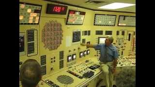 Nuclear power plant control room during emergency shutdown