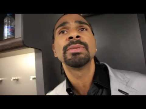 DAVID HAYE REACTS TO CARL FROCH'S KNOCKOUT OF GEORGE GROVES & ALL BUT CONFIRMS RETURN LATER IN YEAR