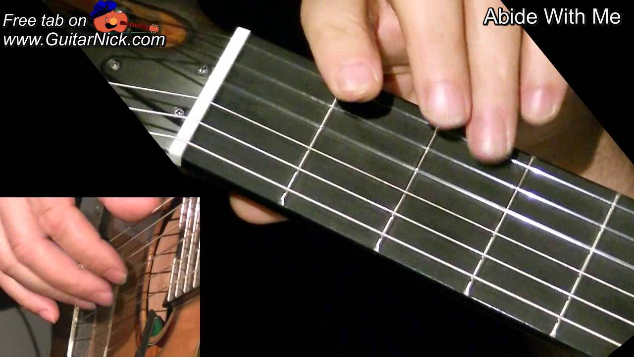 Abide With Me Easy Guitar Lesson Tab By Guitarnick Youtube