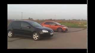 Honda Civic VIII 5D 1.8 i-VTEC 140hp AMT vs Volkswagen Golf V 1.4 TFSI 122 Hp MT