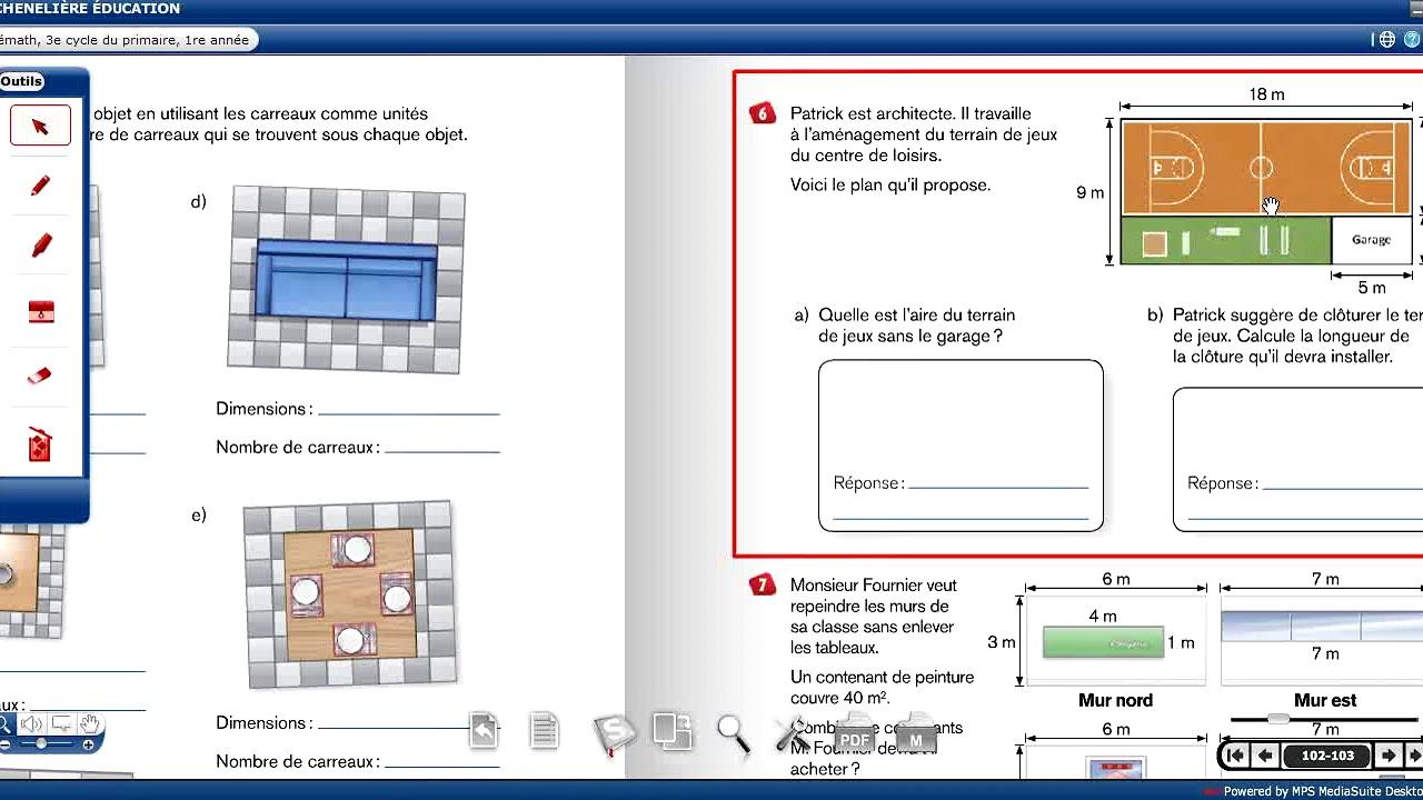 Maths, 5e primaire: Mesure de surface, Exercices (2 ...