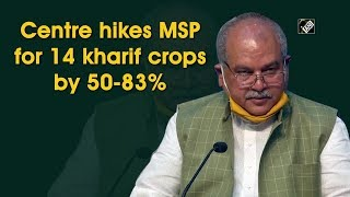 Centre hikes MSP for 14 Kharif Crops by 50- 83 percent