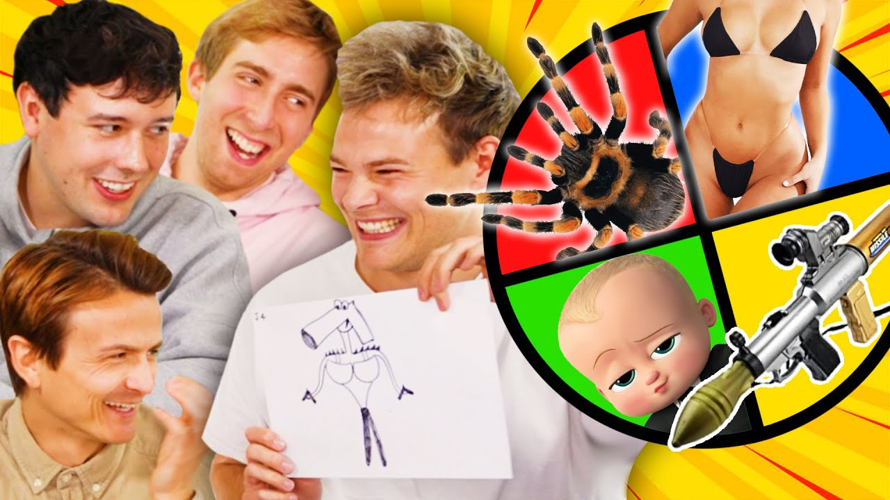 Verrückte MONSTERS mit dem GLÜCKSRAD malen! ✍🏻 mit CrispyRob, Dima und Joey
