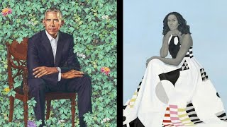 Unique portraits of Obamas unveiled