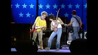 "Sammy Hagar & Eddie Van Halen perform a cover of Led Zeppelin's ""Ro..."