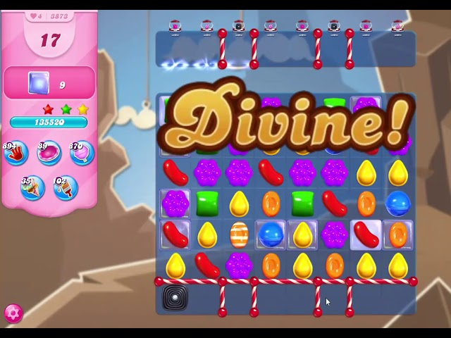 Candy Crush Saga Level 3873 NO BOOSTERS