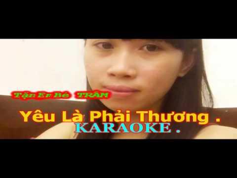 Yêu Là Phải Thương | Karaoke Beat | Võ Kiều Vân | Tram