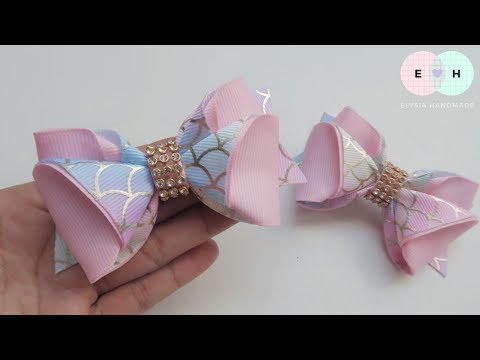Laço De Fita 🎀 Ribbon Bow Tutorial #54 🎀 DIY by Elysia Handmade