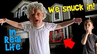 We Snuck Into DavidsTV's House! Granny PRANK GONE WRONG!