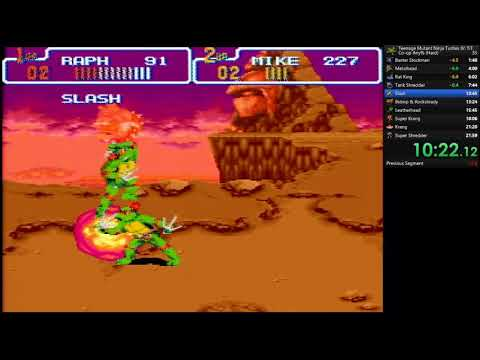 TMNT IV: Turtles in Time (SNES) co-op WR by Sinister1 and Mikwuyma in 21:30