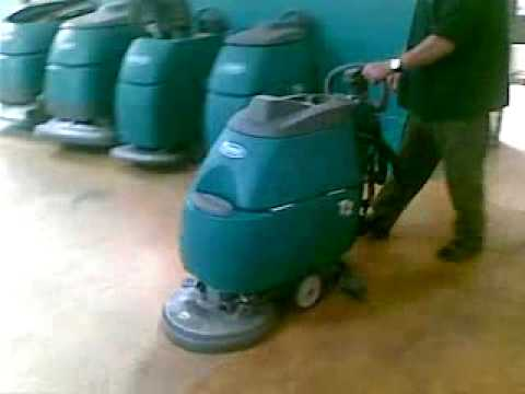 Tennant Company T2 Floor Scrubber Youtube
