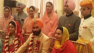 Amarinder Grandson Nirvana Singh And Sindhia Granddaughter  Mriganka Singh  Royal Wedding