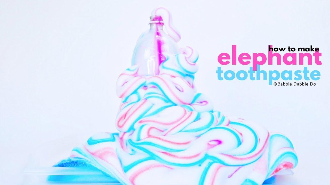 Amazing Science How To Make Elephant Toothpaste Youtube