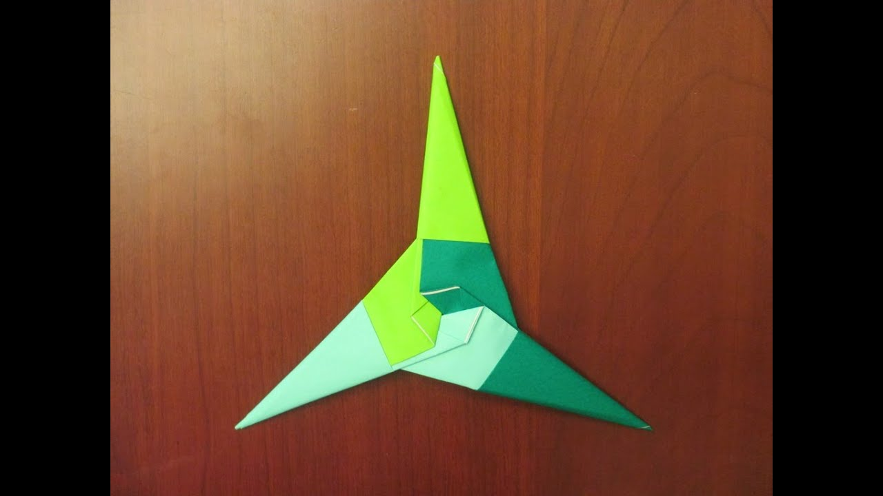 How To Make An Origami 3 Point Ninja Star