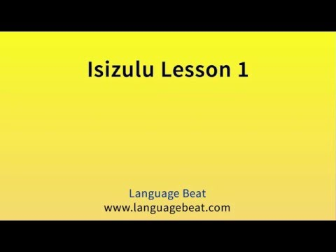 Learn Isizulu : Lessons for Beginners  1 -  26