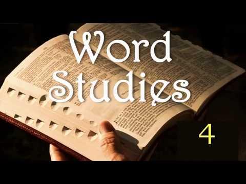 Word Studies 4: Person