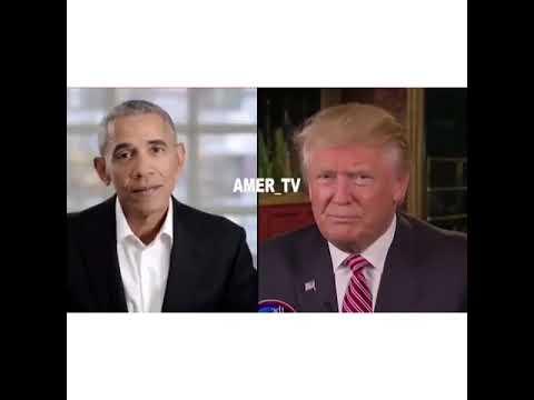 Obama and trump sing el3ab yala
