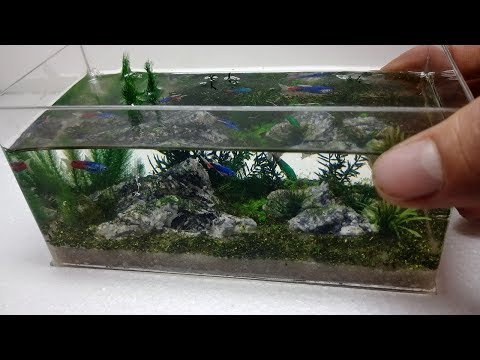 DIY miniature aquarium fish tank - Resin art  - Art working