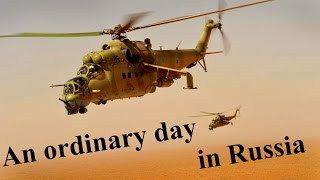 Military copter road gliding