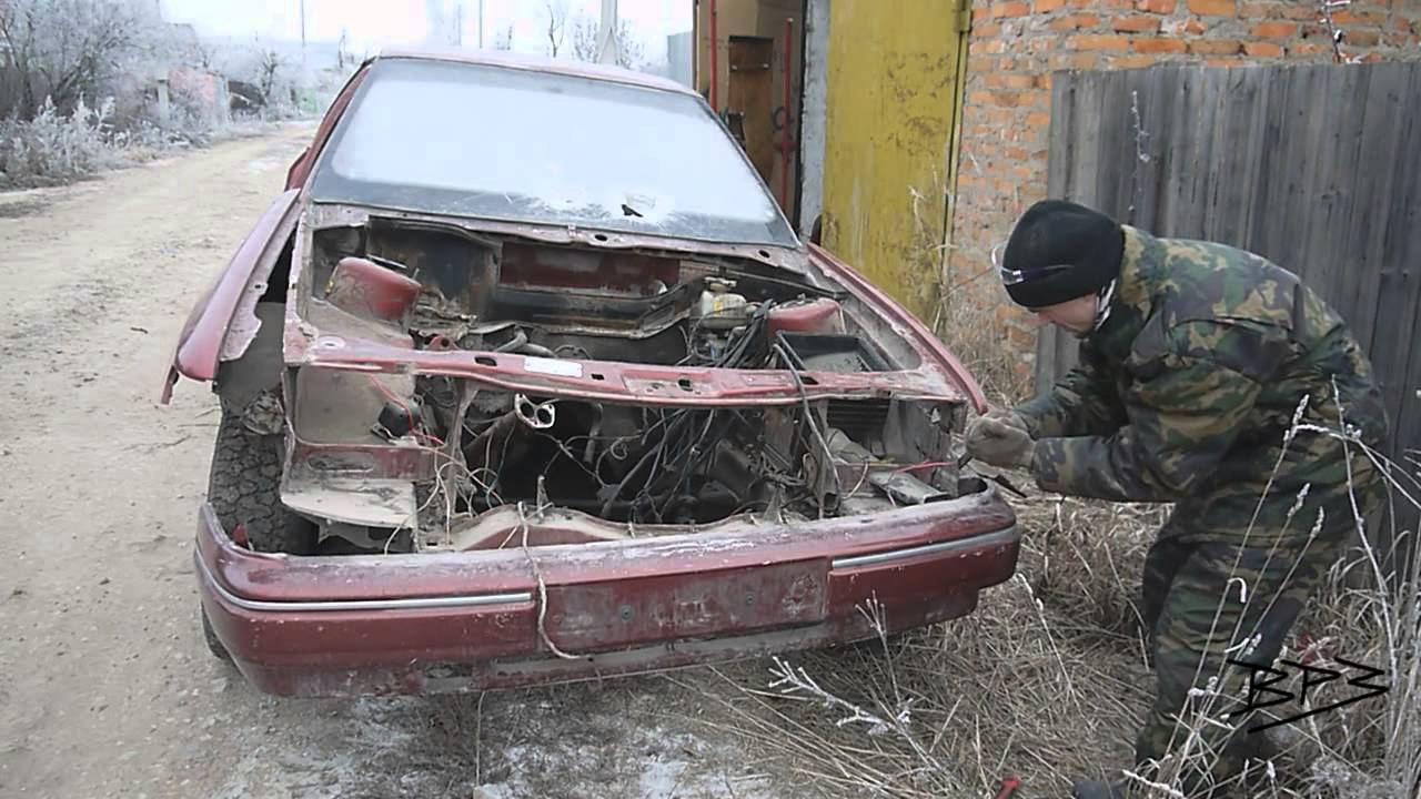 Ford Scorpio Disassembly. How to Disconnect Frontal Bumper. Как снять бампер на форд скорпио